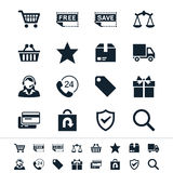 E-commerce icons Stock Photography