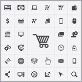E-commerce icons universal set. For web and mobile Royalty Free Stock Photo