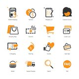 E-Commerce-Ikonen-Satz Stockfotografie