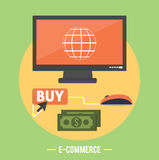 E-commerce infographic concept of purchasing Royalty Free Stock Photo