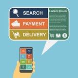 E-commerce infographic Stock Photos