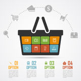 E-commerce infographic Royalty Free Stock Photos