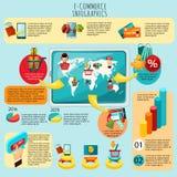 E-commerce Infographics Set Royalty Free Stock Photos