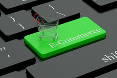 E-commerce keyboard button Stock Photo