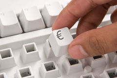 E-commerce keyboard : Euro Royalty Free Stock Photos
