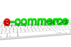 E-commerce  letters Stock Photo