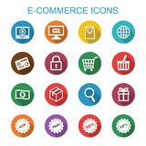 E-commerce long shadow icons Royalty Free Stock Photos