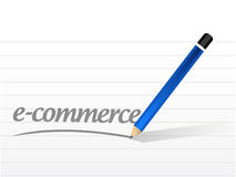 E-commerce message sign illustration Stock Image