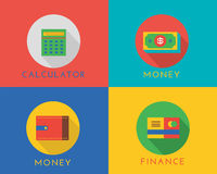 E-commerce money vector logo icons set. Shop Stock Image
