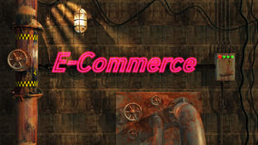 E-Commerce in Neon Royalty Free Stock Photography