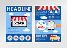 E commerce online marketing magazine cover, flyer Royalty Free Stock Photography