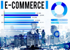 E-Commerce Online Marketing Strategy Corporate Concept Royalty Free Stock Photo