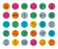 E-commerce. Online shop linear icons set Stock Photo