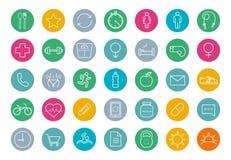 E-commerce. Online shop linear icons set Stock Image