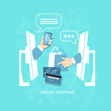 E-commerce online shopping buying and selling internet payment Stock Photography