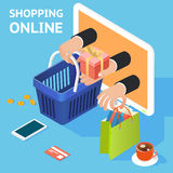 E-commerce or online shopping concept Stock Images