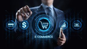 E-commerce Online Shopping Digital marketing and sales business technology concept. stock images