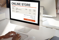 E-commerce Online Shopping Website Technology Concept Royalty Free Stock Photo