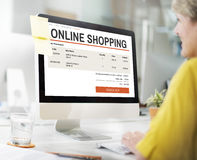 E-commerce Online Shopping Website Technology Concept Royalty Free Stock Photography