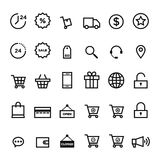 E-commerce outline icon set vector illustration Royalty Free Stock Images