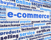 E-commerce poster design Stock Image