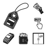 E-commerce, Purchase and sale black icons in set collection for design. Trade and finance vector symbol stock web. E-commerce, Purchase and sale black icons in Royalty Free Stock Photo