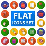 E-commerce, Purchase and sale flat icons in set collection for design. Trade and finance vector symbol stock web. E-commerce, Purchase and sale flat icons in set Royalty Free Stock Photography