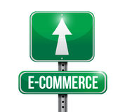 e commerce road sign illustration design Stock Photography