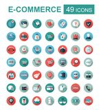 E-commerce set vector icons shopping and online Stock Photography