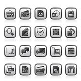 E-commerce and shop icons Stock Photos