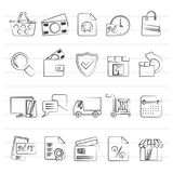 E-commerce and shop icons. Vector icon set Royalty Free Stock Photo
