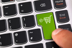E-commerce Shopping Cart Stock Photo