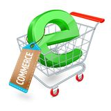 E-commerce shopping cart concept Royalty Free Stock Images