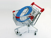 E-Commerce shopping cart (side view) 2 Royalty Free Stock Photography