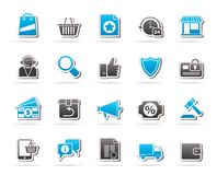 E-commerce and shopping icons. Vector icon set Royalty Free Stock Photo