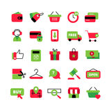 E-Commerce And Shopping Icons Set Stock Images
