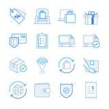 E-commerce and Shopping icons set 2. Flat Design Illustration: E-commerce and Shopping icons set 2 Royalty Free Illustration