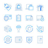 E-commerce and Shopping icons set 2. Flat Design Illustration: E-commerce and Shopping icons set 2 Stock Images