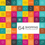 E-commerce and shopping icons. Thin line design. Stock Photo