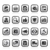 E-commerce and shopping icons. Vector icon set Stock Photo