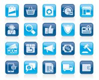 E-commerce and shopping icons. Vector icon set Royalty Free Stock Photography