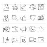 E-commerce and shopping icons. Vector icon set Royalty Free Stock Image