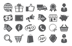 E-commerce and shopping icons Stock Photos