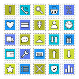 E-Commerce. Signs, symbols Internet shopping. Flat icons of trade Royalty Free Stock Images