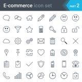 E-commerce simple thin icon set isolated on white background Stock Photo