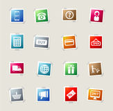 E-commerce simply icons Stock Photography