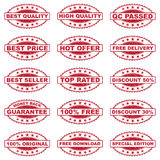 E-COMMERCE STAMP SET Royalty Free Stock Photos