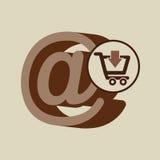 E-commerce store digital mail marketing. Vector illustration eps 10 Stock Photos
