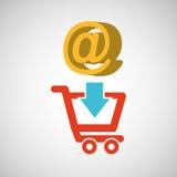 E-commerce store digital mail marketing. Vector illustration eps 10 Royalty Free Stock Image