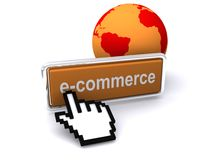 E-Commerce symbol Royalty Free Stock Photography